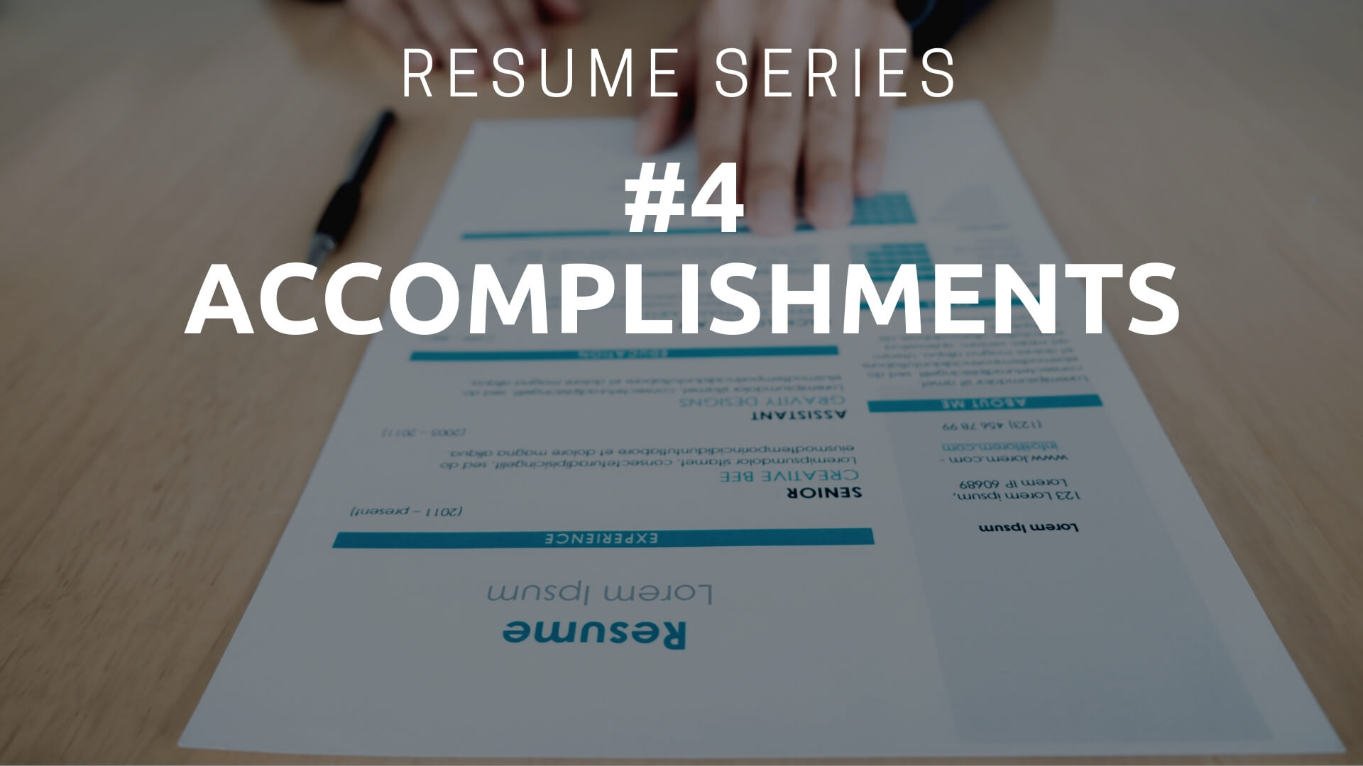 Resume Accomplishments